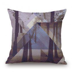 Fantastic Geometrical Landscape Tree Jigsaw Pattern sofa Pillow Case -