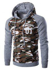 Kangaroo Pocket Camo Long Sleeve Hoodie For Men -