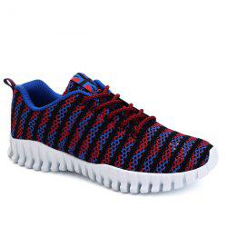 Trendy Colour Splicing and Tie Up Design Athletic Shoes For Men