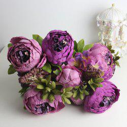 Haute Qualité A Bouquet of Living Room Decoration pivoine artificielle -