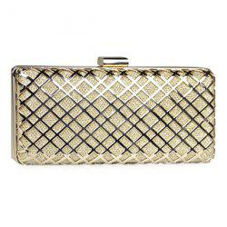 Trendy Metal and Checked Pattern Design Evening Bag For Women