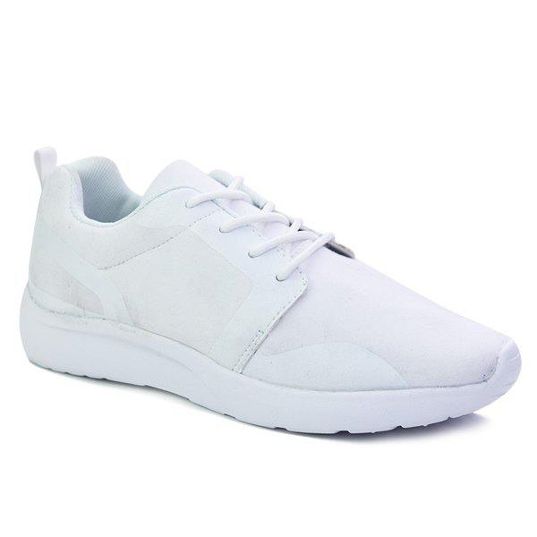 Online Stylish Solid Colour and Tie Up Design Athletic Shoes For Men