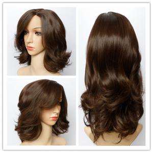Fluffy Wave Capless Stunning Dark Brown Short Synthetic Wig For Women