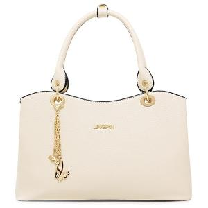 Graceful PU Leather and Chains Design Tote Bag For Women - Off-white
