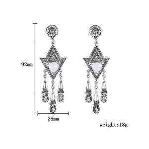 Rhinestone Triangle Earrings -