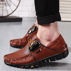 Fashionable Breathable and Tie Up Design Casual Shoes For Men - BROWN 44