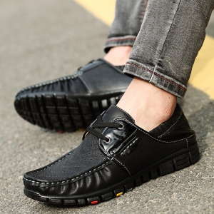 Fashionable Breathable and Tie Up Design Casual Shoes For Men -