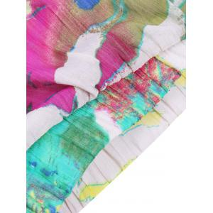 Stylish Women's Tie-Dyed Maxi Skirt - COLORMIX L
