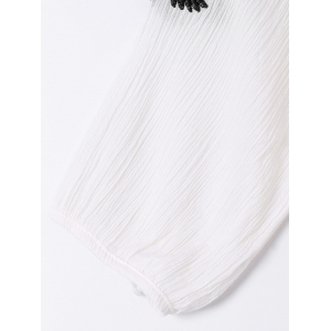 Bohemian Tie Embroidered Short Sleeves Dress For Women -