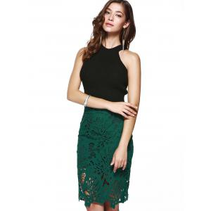Chic High Waist Lace Bodycon Skirt For Women -