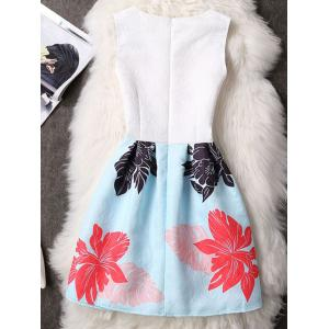 Chic Sleeveless Floral Print Slimming Women's Dress -