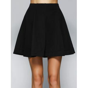Simple Women's High Waist Solid Color A-Line Skirt -