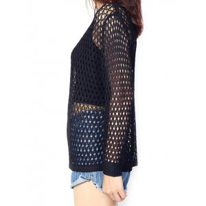 Loose-Fitting Pure Color Women's Knitted Top -