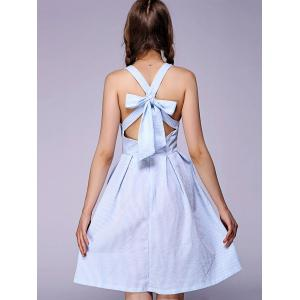 Sweet Bowknot Backless Skater Dress -