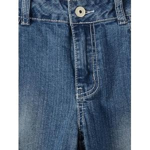 Plus Size Trendy Frayed Distressed Pencil Jeans -