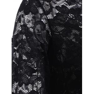 Lace Tight Homecoming Dress with Sleeves - BLACK L