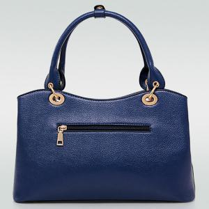 Graceful PU Leather and Chains Design Tote Bag For Women -
