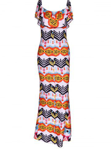 Online Attractive Overlay Printed Skinny Dress For Women