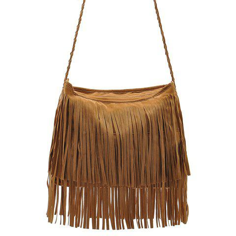 Best Stylish Weaving and Fringe Design Women's Crossbody Bag