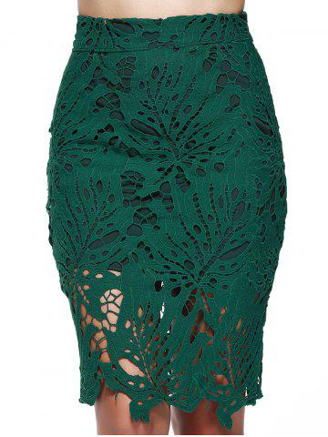 Online Chic High Waist Lace Bodycon Skirt For Women