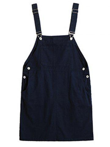 Outfit Plus Size Casual Button Up Side Overall Dress