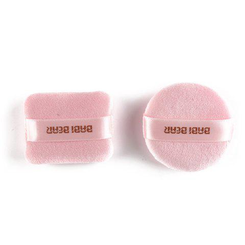 Trendy Stylish 2 Pcs Round and Square Calm Makeup Dry Use Powder Puffs