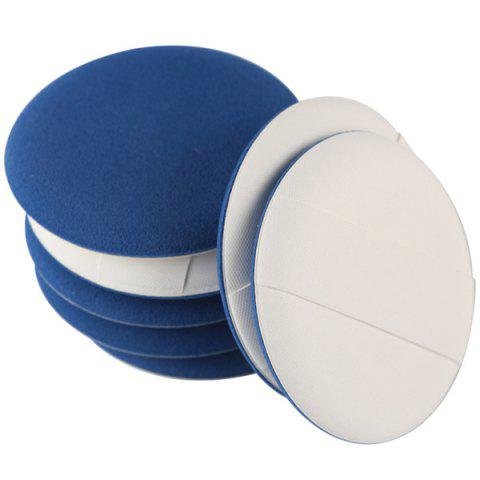 Unique Stylish 7 Pcs Round Dual-Use Dry and Wet Calm Makeup BB Cream Air Puffs - BLUE  Mobile
