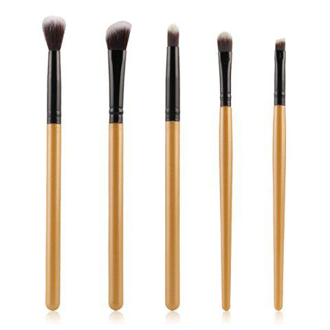 Sale Stylish 5 Pcs Eyeshadow Nylon Eye Makeup Brushes Set GOLDEN