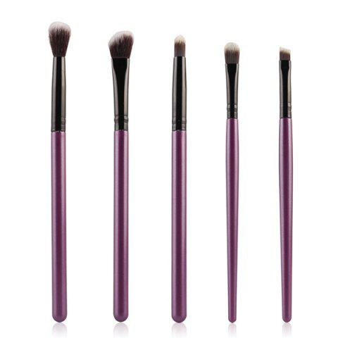 Stylish 5 Pcs Eyeshadow Nylon Eye Makeup Brushes Set - Purple