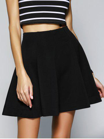 Store Simple Women's High Waist Solid Color A-Line Skirt
