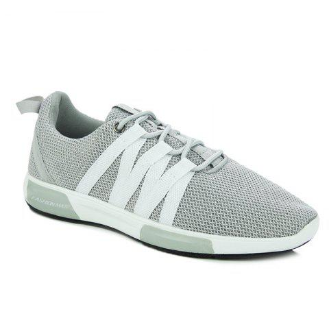 Discount Trendy Colour Splicing and Lace Up Design Athletic Shoes For Men