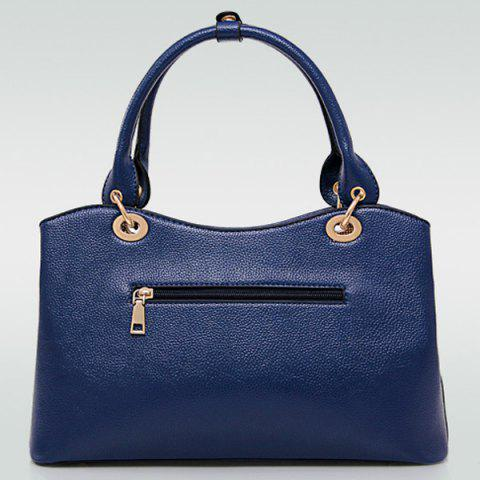 Shops Graceful PU Leather and Chains Design Tote Bag For Women - RED  Mobile