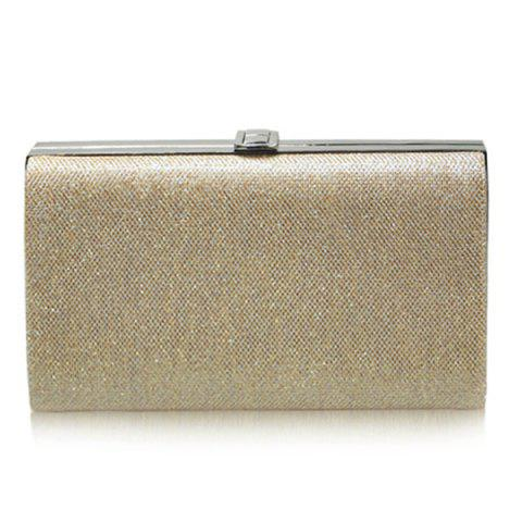 Fashion Stylish Metal and Solid Color Design Evening Bag For Women