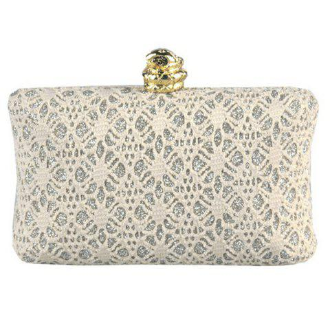Sale Chic Faux Pearl and Golden Design Evening Bag For Women