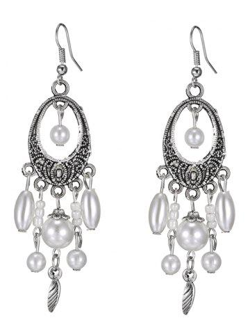 Outfit Leaf Artificial Pearl Earrings