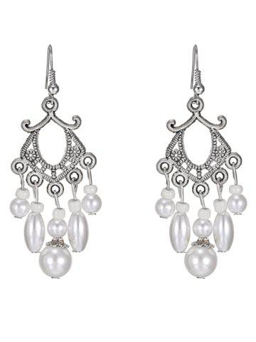 Store Pair of Artificial Pearl Earrings