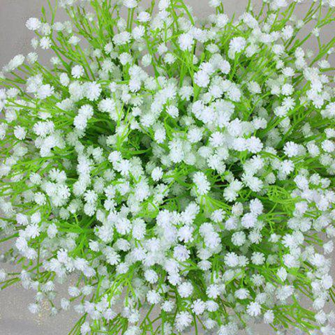 Trendy Fresh Style A Bouquet of White Little Floral Decoration Artificial Flower - WHITE  Mobile