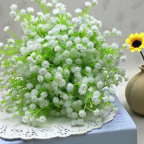 New Fresh Style A Bouquet of White Little Floral Decoration Artificial Flower - WHITE  Mobile