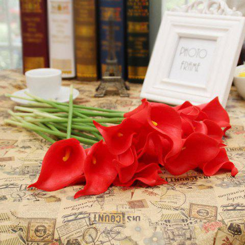 Trendy Home Table Decor 1Pcs Artificial Calla Flower - RED  Mobile