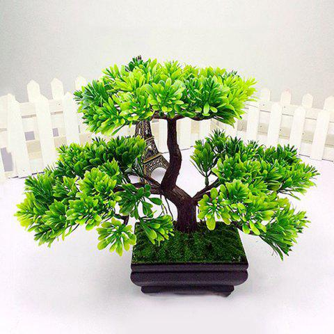 Online Creative Home Decoration Fake Miniascape Evergreen Tree Artificial Flower