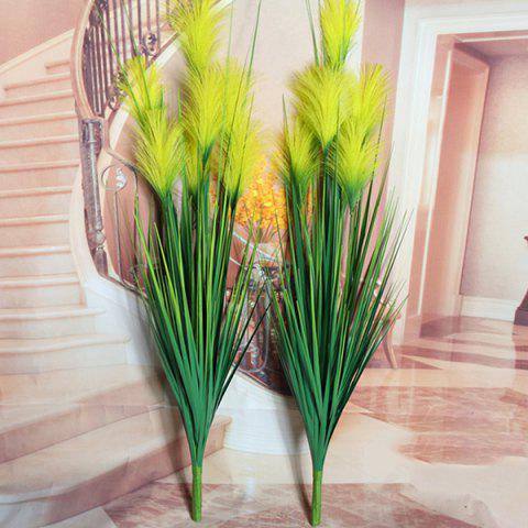 Discount High Quality Home Party Decorative Fake Yellow Reed Artificial Flower YELLOW