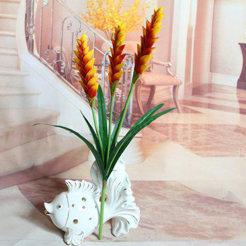 New High Quality Home Decoration 3 Branches Wheatear Artificial Flower ORANGE