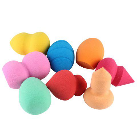 Fancy Stylish 8 Pcs Different Shape Water Swelling Makeup Sponge Powder Puffs - COLORMIX  Mobile