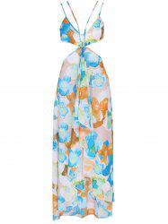 Gauzy Spaghetti Straps Floral Dress For Women -
