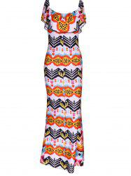 Attractive Overlay Printed Skinny Dress For Women