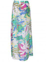 Stylish Women's Tie-Dyed Maxi Skirt - COLORMIX