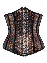 Skull Lace Up Corset For Women -