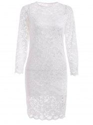 Hollow Out Lace Casual Wedding Vestido Dress