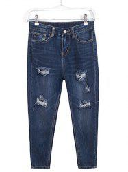 Plus Size Trendy Ripped Harem Jeans -