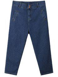Plus Size Casual Vertical Pocket Cross Jeans -